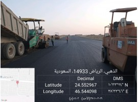 Asphalting streets and roads