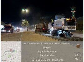 Maintenance of streets and sidewalks south of Riyadh
